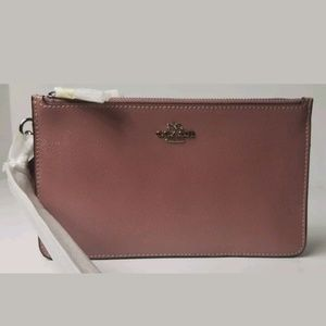 NWT Coach Crosby Clutch Wristlet, Dusty Rose Paten